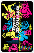 Prints & Multiples, Ryan McGinness (b. 1972). Women: The Blacklight Paintings (three exhibition posters), 2010-11. Screenprint with black fl... (Total: 3 Items)