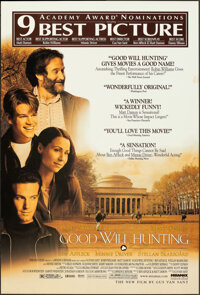 "Good Will Hunting (Miramax, 1997). Rolled, Very Fine-. One Sheets (5) Identical (27"" X 40"") DS, Academy Awards..."
