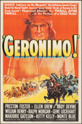 "Movie Posters:Western, Geronimo (Paramount, 1939). Folded, Very Fine+. One Sheet (27"" X 41""). Western.. ..."