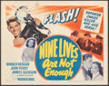 "Movie Posters:Mystery, Nine Lives Are Not Enough (Warner Bros., 1941). Very Fine-. Title Lobby Card (11"" X 14""). Mystery.. ..."