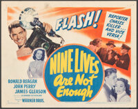 "Nine Lives Are Not Enough (Warner Bros., 1941). Very Fine-. Title Lobby Card (11"" X 14""). Mystery"