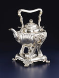 Silver Holloware, American:Hot Water Kettles , An American Silver Hot Water Kettle On Stand. Tiffany & Co., New York, New York. 1880. Silver and ivory. Marks: TIFFANY...