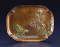 Silver & Vertu:Hollowware, An American Mixed Metal Smoking Tray. Gorham Manufacturing Co., Providence, Rhode Island. 1880. Copper, brass, bronze and ...