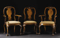 Furniture, A Set of Fine George II Style Walnut Dining Chairs. Unknown maker, England. Late Nineteenth Century. Walnut. Unmarked. 41.... (Total: 8 )
