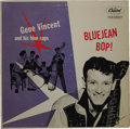 "Music Memorabilia:Recordings, Gene Vincent ""Bluejean Bop!"" Mono LP (Capitol 764, 1957). Capitolreleased a half dozen albums featuring Gene Vincent and Hi..."
