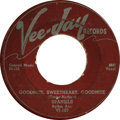 """Music Memorabilia:Recordings, Spaniels Autographed 45 Group of 4 (1953-58). Two copies of """"Goodnight, Sweetheart, Goodnight""""/ """"You Don't Move Me"""" (Vee-Jay... (Total: 4 )"""