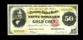 Large Size:Gold Certificates, Fr. 1193 $50 1882 Gold Certificate Fine-Very Fine. Fully Very Fine from the face, but the back is somewhat weaker. About 80 ...