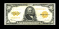 Large Size:Gold Certificates, Fr. 1200 $50 1922 Gold Certificate Fine-Very Fine. This $50 Goldlooks a full VF at first, but a few more folds are revealed...