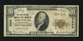 National Bank Notes:Pennsylvania, Greensburg, PA - $10 1929 Ty. 1 The First NB & TC Ch. # 2558. Cashier Paul S. Bain and President Richard Coulter served ...