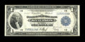 Fr. 735 $1 1918 Federal Reserve Bank Note Very Fine. Of the three Minneapolis Friedberg numbers for this design, this is...