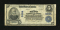 National Bank Notes:Maryland, Baltimore, MD - $5 1902 Plain Back Fr. 608 The Old Town NB Ch. #5984. A great bank title for a Baltimore note greets th...
