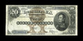Large Size:Silver Certificates, Fr. 309 $20 1880 Silver Certificate Fine. There are a few repaired edge splits, but this scarce number has retained good col...