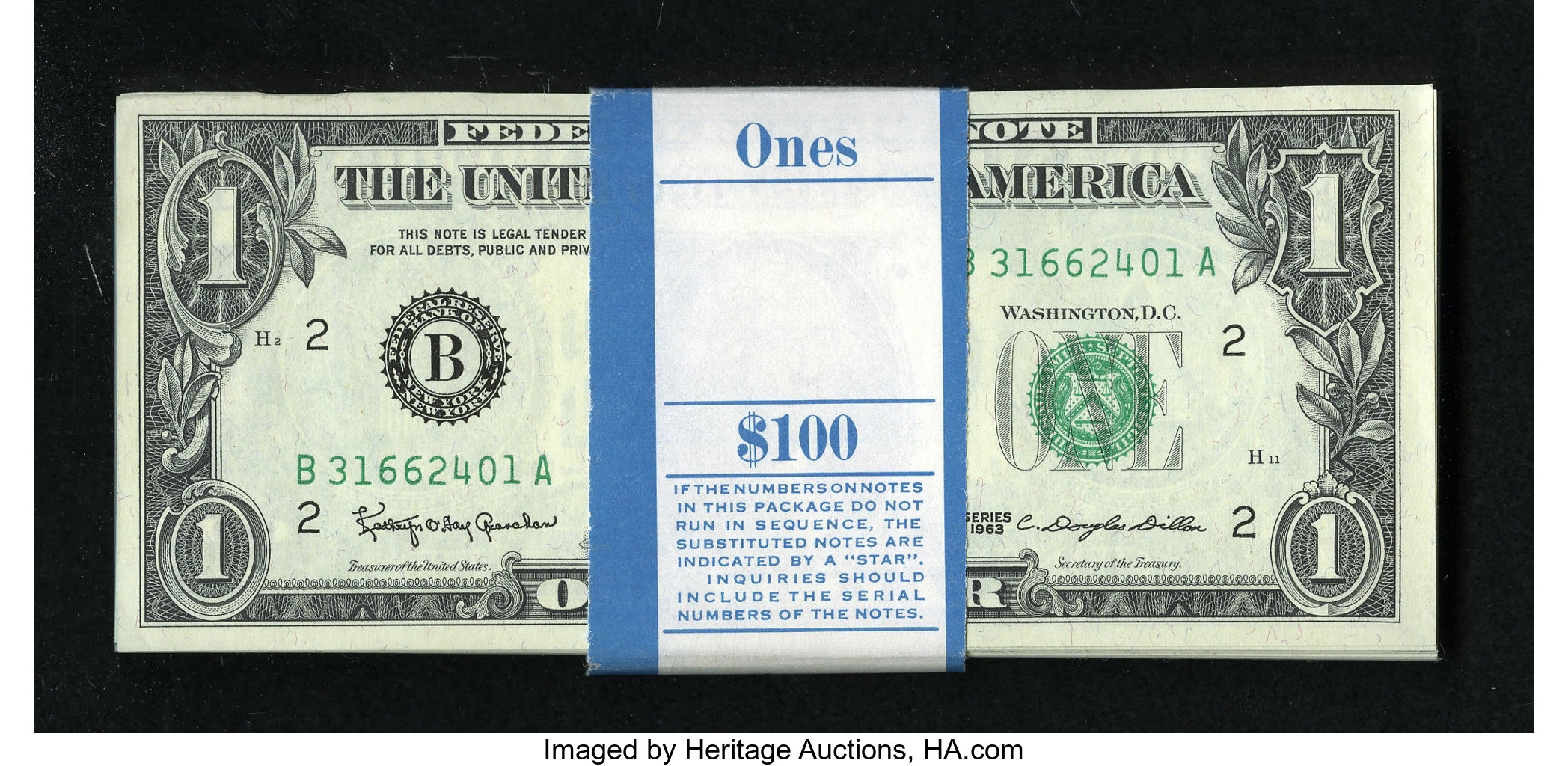 Choose How Many One Dollar Bills NEW Unc Crisp $1 Sequential Serial Nos