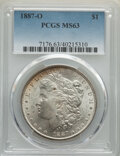 Morgan Dollars: , 1887-O $1 MS63 PCGS. PCGS Population: (4896/3412). NGC Census: (4681/1996). CDN: $115 Whsle. Bid for NGC/PCGS MS63. Mintage...