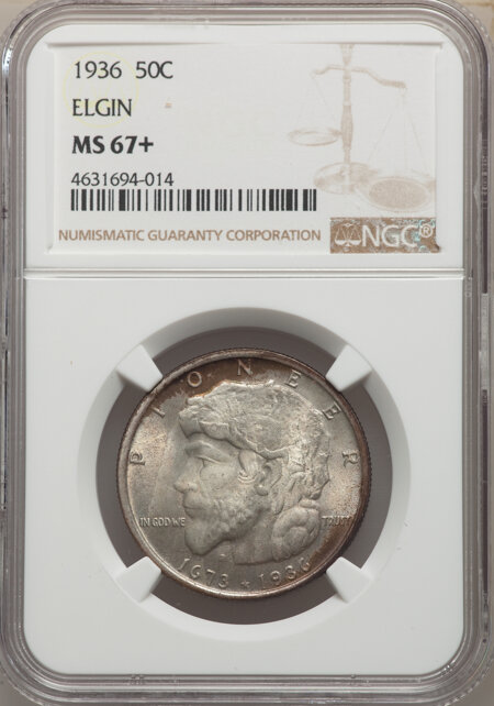 1936 50C Elgin, MS NGC Plus 67 NGC