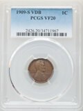 Lincoln Cents, 1909-S 1C VDB VF20 PCGS. PCGS Population: (993/9784). NGC Census: (488/4948). CDN: $650 Whsle. Bid for NGC/PCGS VF20. Minta...
