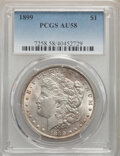 Morgan Dollars: , 1899 $1 AU58 PCGS. PCGS Population: (606/13753). NGC Census: (530/9614). CDN: $175 Whsle. Bid for NGC/PCGS AU58. Mintage 33...