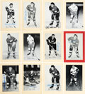 Autographs:Sports Cards, Signed 1944 - 1963 Bee Hive Photos (Group Two) Detroit Red Wings (48). ...