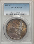 Morgan Dollars, 1885-O $1 MS64 PCGS. This lot will also include the following: 1887 $1 MS64 PCGS; and a 1896 $1 MS64 PCGS.... (Total: 3 item)