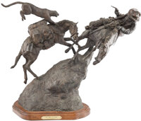 H. Clay Dahlberg (American, b. 1946) No Time to Pray, 1975 Bronze with Brown patina 24 inches (61