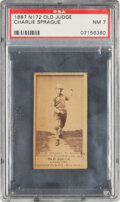 Baseball Cards:Singles (Pre-1930), 1887-90 N172 Old Judge Charlie Sprague (#433-6) PSA NM 7 - Pop One, One Higher. ...