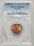 Lincoln Cents, 1909 1C MS64 Red PCGS. PCGS Population: (705/1820). NGC Census: (151/614). CDN: $45 Whsle. Bid for NGC/PCGS MS64. Mintage 7...