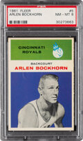 Basketball Cards:Singles (Pre-1970), 1961 Fleer Arlen Bockhorn #5 PSA NM-MT 8....