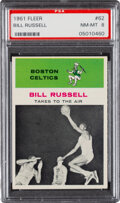 Basketball Cards:Singles (Pre-1970), 1961 Fleer Bill Russell (In Action) #62 PSA NM-MT 8....