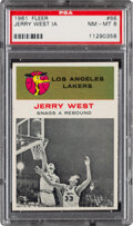 Basketball Cards:Singles (Pre-1970), 1961 Fleer Jerry West (In Action) #66 PSA NM-MT 8....