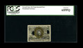 Fractional Currency:Second Issue, Second Issue 10¢ Experimental Face PCGS Gem New 65PPQ....