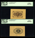 Fractional Currency:First Issue, Fr. 1231SP 5¢ First Issue Wide Margin Pair PCGS Gem New 66PPQ Faceand 65PPQ Back.... (Total: 2 notes)