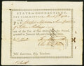 Colonial Notes:Connecticut, State of Connecticut Pay Table Office Mar. 7, 1783 Very Fine.. ...