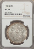 Morgan Dollars, 1885-O $1 MS64+ NGC. This lot will also include a 1901-O $1 MS64 NGC.... (Total: 2 item)