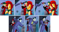 Animation Art:Production Cel, The New Batman Adventures Joker and Harley Quinn Production Cel Sequence of 6 with Animation Drawing (Warner Brothers,... (Total: 7 )