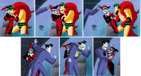 The New Batman Adventures Joker and Harley Quinn Production Cel Sequence of 6 with Animation Drawing (Warner Brothers...