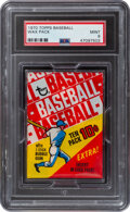 Baseball Cards:Unopened Packs/Display Boxes, 1970 Topps Baseball Unopened 10-Cent Wax Pack PSA Mint 9. ...