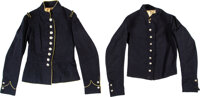 Chasseur de Vincennes Dress and Undress Jacket Identified to Otis Skinner Guild Co. F 18th Regiment Mas... (Total: 2)