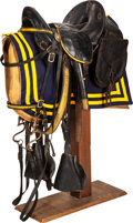 """Military & Patriotic:Indian Wars, McClellan """"USA"""" Marked Saddle with Accessories.. ..."""