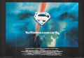 "Movie Posters:Action, Superman the Movie (Warner Bros., 1978). Folded, Very Fine+. British Quad (27"" X 39"") Bob Peak Artwork. Action.. ..."