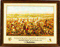 """Military & Patriotic:Indian Wars, George A. Custer: Anheuser-Busch """"Custer's Last Stand"""" Advertising Poster.. ..."""