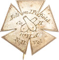 Military & Patriotic:Civil War, 5th Corps Badge Belonging to Edson J. Fifield of the 1st New Hampshire Heavy Artillery.. ...