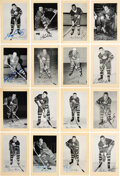 Autographs:Sports Cards, Signed 1944 - 1963 Bee Hive Photos (Group Two) Toronto Maple Leafs (64). ...