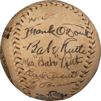 1934 Tour of Japan Team Signed Baseball with Original Japanese Packaging