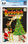 Silver Age (1956-1969):Humor, Rudolph, the Red-Nosed Reindeer 1956 Issue (DC, 1956) CGC VF 8.0 Off-white to white pages....