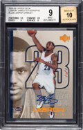 Basketball Cards:Singles (1980-Now), 2005-06 Upper Deck LeBron James Autograph #LJA-25 BGS Mint 9, Auto 10 - One of One!...