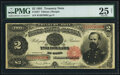 Large Size:Treasury Notes, Fr. 357 $2 1891 Treasury Note PMG Very Fine 25 Net.. ...