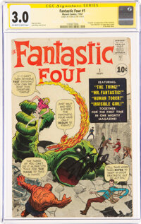 Fantastic Four #1 Signature Series: Stan Lee (Marvel, 1961) CGC GD/VG 3.0 Off-white to white pages