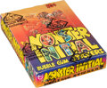 Non-Sport Cards:Unopened Packs/Display Boxes, 1974 Topps Monster Initial Stickers Wax Box With 36 Unopened Packs. ...