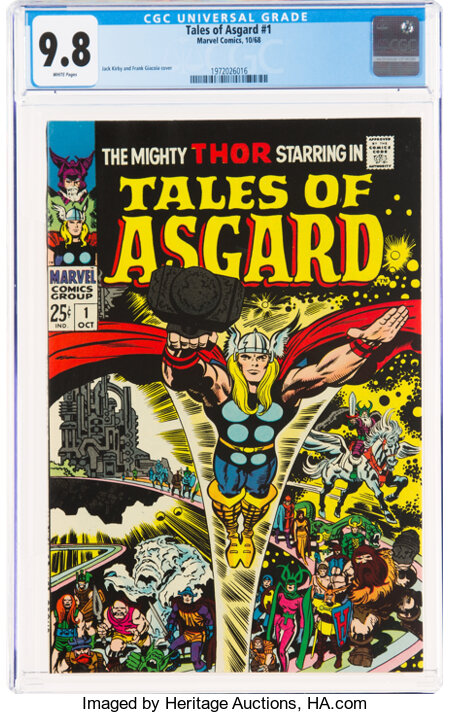 Tales of Asgard #1 (Marvel, 1968) CGC NM/MT 9.8 White pages....