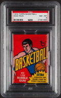 Basketball Cards:Unopened Packs/Display Boxes, 1974 Topps Basketball Unopened Wax Pack PSA NM-MT 8 - Walton & Gervin Rookie Year! ...